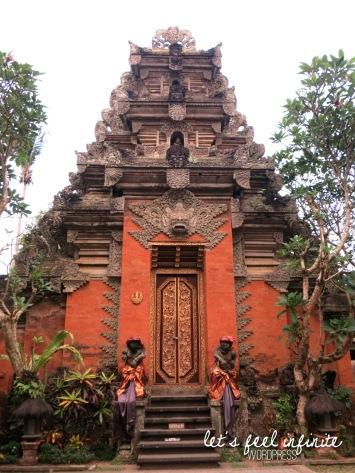 Palais d'Ubud, de jour.