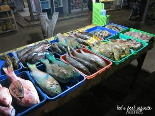 Etal de poissons à Gili Air