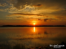 Coucher de soleil sur l'île de Gili Air