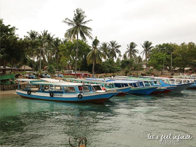 Les bateaux du port de Gili Air