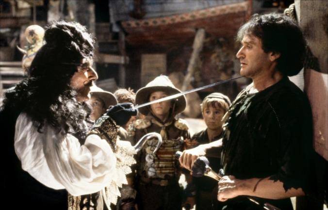 Robin Williams dans le film Hook de Steven Spielberg