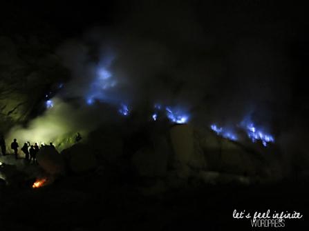 Blue fire at Kawah Ijen