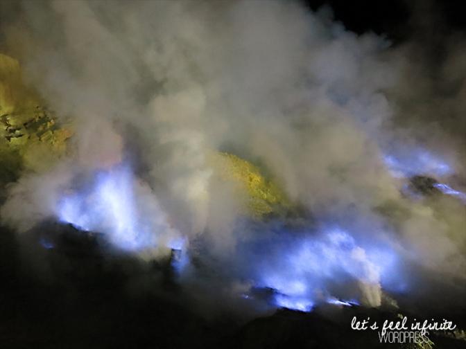 Blue fire et soufre à Kawah Ijen