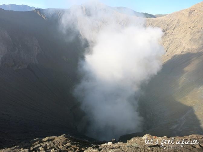 Cratère fumant du Mont Bromo