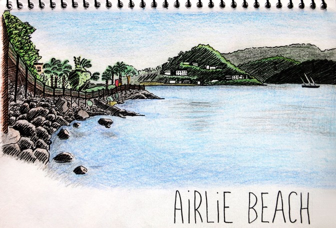 Airlie Beach - Drawing by Let's Feel Infinite 2