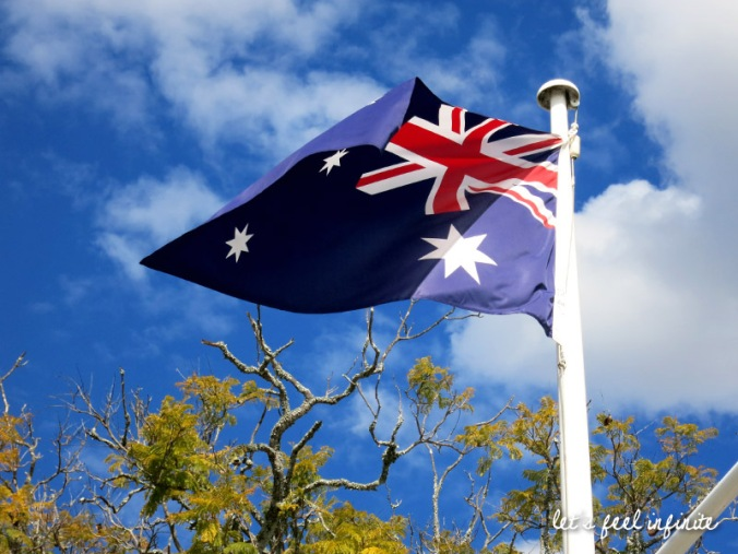 Beaudesert - Australian flag in the wind