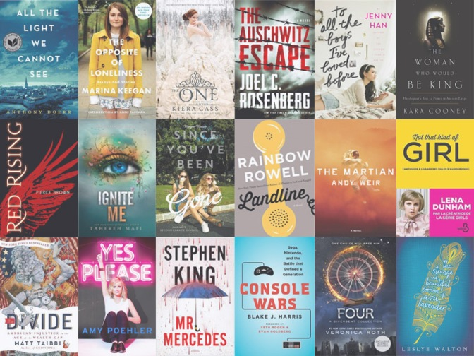 Les meilleurs livres de 2014 - Cover mashup of Goodreads' Best Books 2014