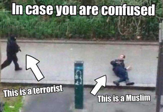 Charlie Hebdo - Distinction entre un musulman et un terroriste