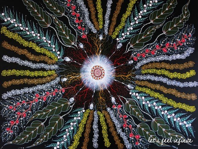 Œuvre d'art aborigène contemporaine que j'ai adorée chez Sofie et Will
