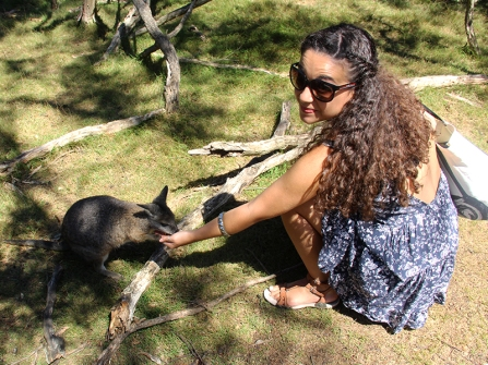 Moonlit Sanctuary - Me & a small wallaby