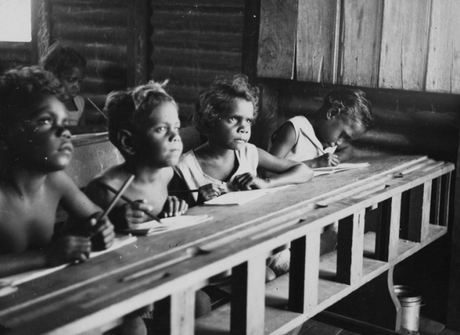 School, Mornington Island, 1950. Courtesy of the State Library of Queensland and the community of Mornington Island