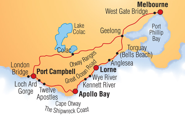 great ocean road map
