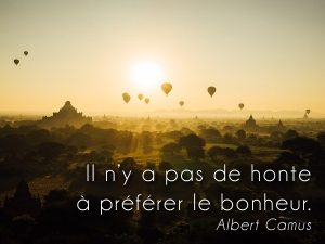 Citation Camus sur belle photo de myanmar