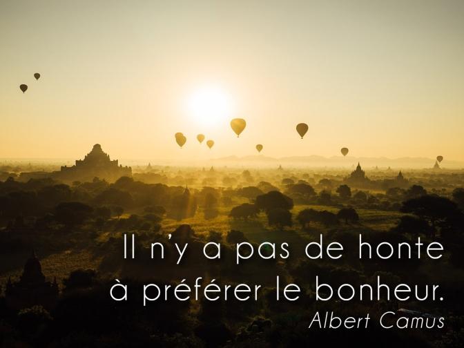Citation Camus sur belle photo de myanmar