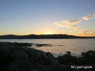 Tasmanie - Bay of fires sunset