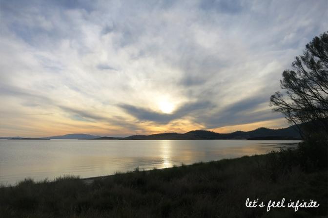Sunset Tasman Peninsula, Tasmania, Australia