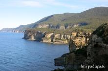 Cliff seen on the Waterfall Bay walk, Tasman Peninsula, Tasmania