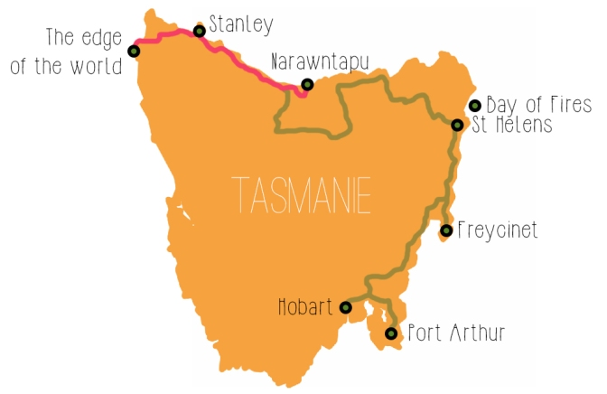 Tasmanian Map - North West