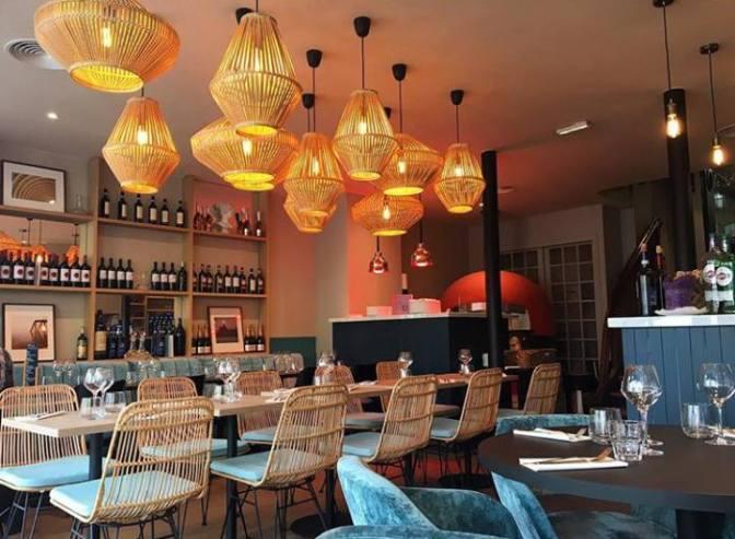 La déco de Pratolina, restaurant italien à Paris