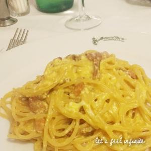 Les Spaghetti alla carbonara du restaurant Trattoria Antoca Boheme